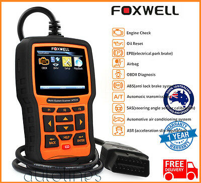 FOXWELL NT510 OBD2 Auto Fault Code Reader Reset Diagnostic Scan Tool FOR HOLDEN