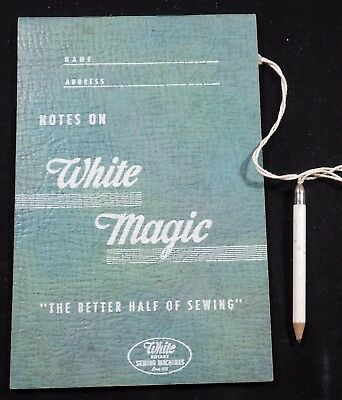White Sewing Machine Note Pad with Attached Pencil