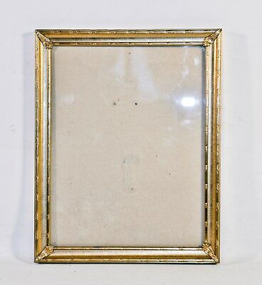 "Vintage Metal Antique Brass Look Picture Frame 9 "" X 7"" Wall Hanging or Tabletop"