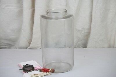 Antique Glass Jar Canister General Store Storage Penny Candy Clear Glass No Lid