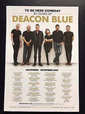 4x DEACON BLUE  promo FLYERS live 2018 '30 years of' tour to be here someday