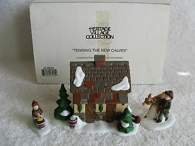DEPT 56 - Dickens Village - TENDING THE NEW CALVES - NEW - Set of 3 - #58395