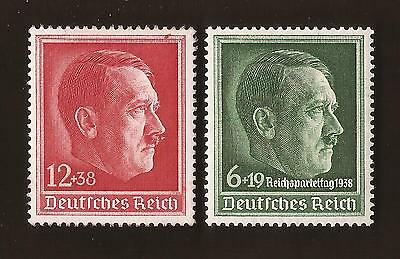 1938 Nazi Germany Third 3rd Reich Adolf Hitler head birthday stamp set MNH