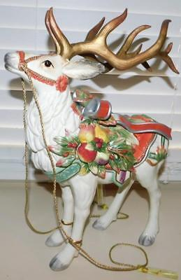 Fitz & Floyd ENCHANTED HOLIDAY DEER Figurine Large Ceramic Reindeer