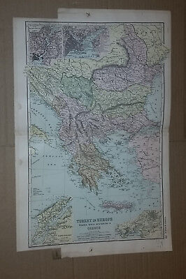 Map of Turkey from Atlas of the World 1897