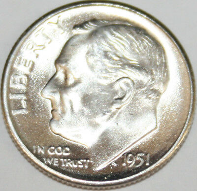 1951-S Roosevelt Dime 90% Silver Uncirculated BU [SN01]