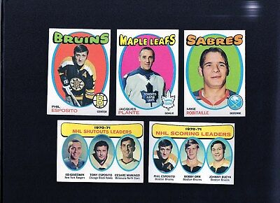 Vintage 1971-72 Topps Hockey Lot of 29 with P.Esposito, B.Hull, F.Mahovlich