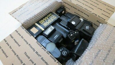 Big Lot of 13 Various Camera Flashes-Canon, Vivitar