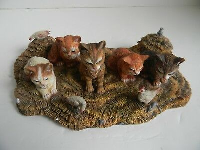 """Lang & Wise - Lowell Herrero """"curious Cats"""" - 1999 - Lh#5 Zwieg Family Farm"""