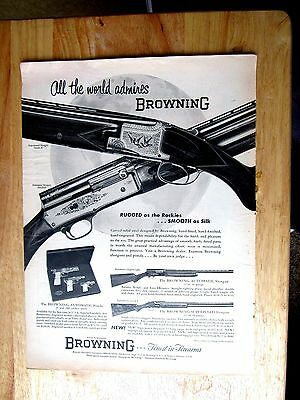 1950s Browning Fire Arms ALL The World Admires Browning Print Ad