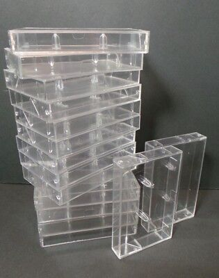 15 Clear Empty High Quality Audio Cassette Case Jewel Case