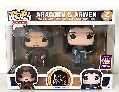 Exclusive- Funko Lord of the rings Aragorn And Arwen 2-pack Pop! SDCC 2017 rare