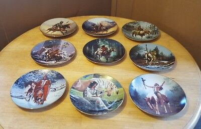 """The Hamilton Collection Indian Native American Lot of 9 Plates 8"""""""