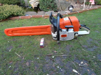 """Stihl Ms440 2011 Chainsaw Just Serviced 20"""" Bar And Chain Very Powerful Ms460"""