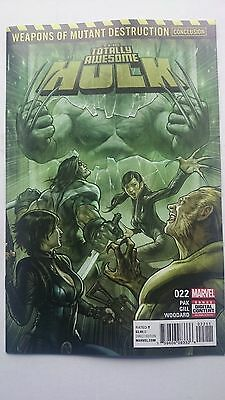 The Totally Awesome Hulk # 22  Nm  1St Print Weapons Of Mutant Destruction 2017