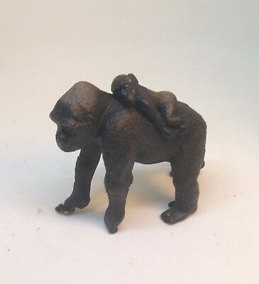 Schleich Gorilla With Baby On Back Great Condition