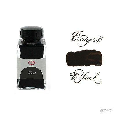 Aurora 45 ml Bottle Fountain Pen Ink, Black