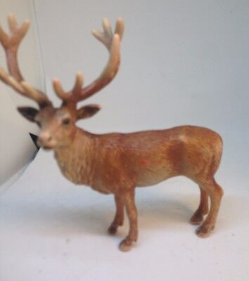 Twelve Point Red Stag Deer in Standing Position by Schleich Retired Figure 2002