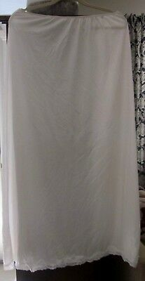 """Formal Ivory half slip    26"""" waist stretches to 36""""   39"""" long"""