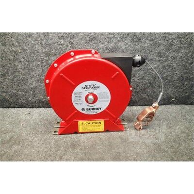 """Burndy BSD2050 Static Discharge Reel, 50' Cable Length, 3/32"""" Outside Dia., 100A"""