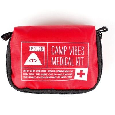 Poler Outdoor Stuff Make It Or Break Unisex Adventure Gear First Aid Kit - Red