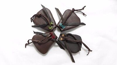 Chocolate Brown Deerskin Leather Medicine Bag Pouch Free USA Ship & Gift Wrap