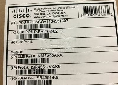 CISCO ISR4331/K9 ROUTER - Not Affected by Clock Bug - Open Box