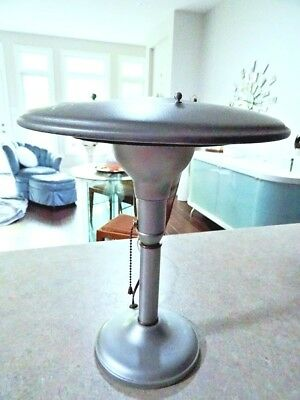 1936 ATOMIC SPACE AGE LAMP ufo WHEELER Connecticut INDUSTRIAL Art Deco METAL
