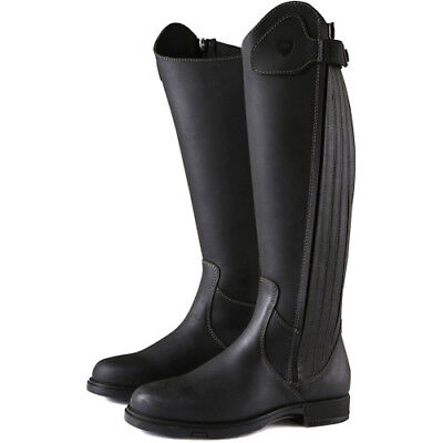 Derby House Pro Leather Womens Boots Long Riding - Black All Sizes