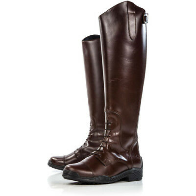 Derby House Elite Leather Womens Boots Long Riding - Brown All Sizes