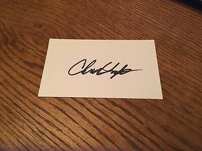 Nasa Flight Director For The Apollo Moon Landing Chris Kraft! Signed 3X5 Card! W