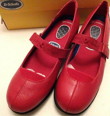 Dr Scholl's Mary Jane Strap Womens Casual  Shoe Comfort Red