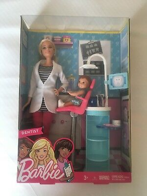 Barbie Careers Dentist Doll & Playset DHB64 BNIB