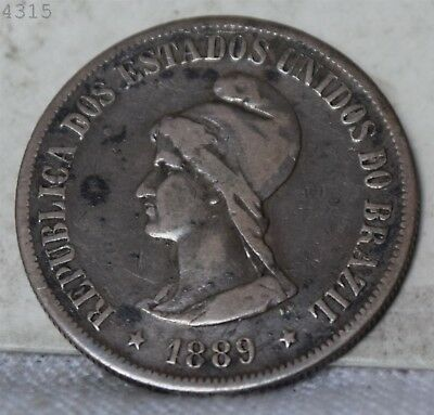 1889 *Silver* Brazil 500 Reis *Free S/H After 1st Item*