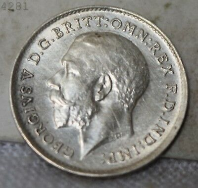 "1911 *Silver* Great Britain 3 Pence ""AU+"" *Free S/H After 1st Item*"