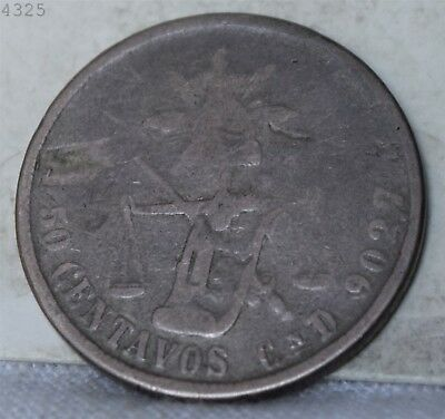 1879 CnD *Silver* Mexico 50 Centavos *Free S/H After 1st Item*