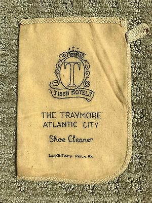 Vintage, The Traymore Hotel Shoe Cloth, Rag, Cleaner, Atlantic City
