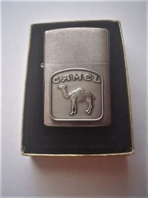 New Vintage Zippo Camel Viii Silver Lighter With Original Box, Made In Usa 1992.