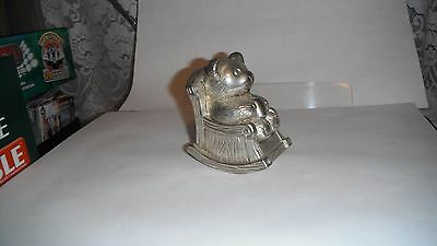 Vintage Silver Plated Christening Gift Money Box