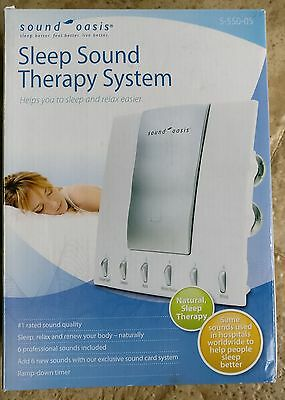 New Sound Oasis Sleep Sound Therapy System S-550-05 Includes 6 Natural Sounds