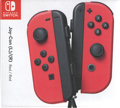 Joy Con (L/R) Wireless Controllers Nintendo Switch - Super Mario Odyssey Red