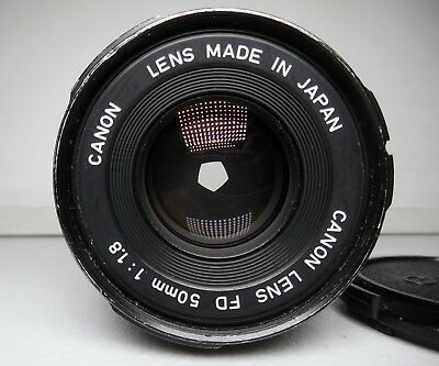 VERY GOOD CANON FD 50mm f1.8 FOR canon A-1, AE-1.... most canon film cameras...