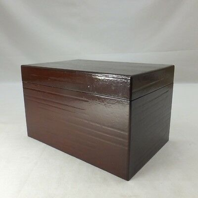 D105: Japanese lacquerware tea box CHABAKO for tea utensils