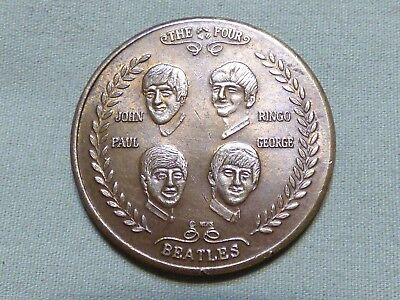 Vintage 1964 Beatles Visit To The United States Commemorative Token - Item 344