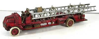 1930s LARGE SIZE CAST IRON ARCADE FIRE ENGINE / LADDER TRUCK 18 INCHES LONG