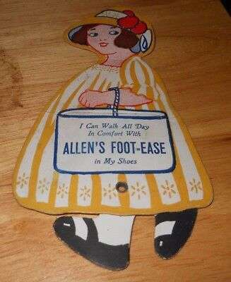 Old Advertising for Allen's Foot Ease from LeRoy New York Copyright from 1922