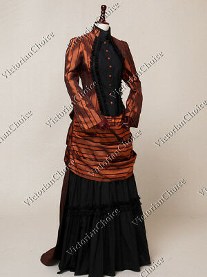 Victorian Edwardian Christmas Holiday Party Bustle Dress Gown Steampunk N 139