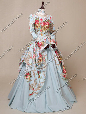 Victorian Royal Queen Christmas Winter Party Dress Gown Theater Clothing N 156