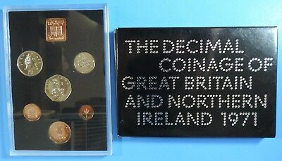 1971 Great Britain Northern Ireland 6 Coin Royal Mint Proof Set