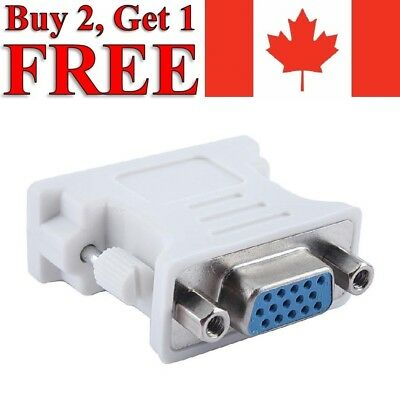 DVI-I Male to VGA Female Converter Adapter 24+5 Dual Link 15 Pin for PC